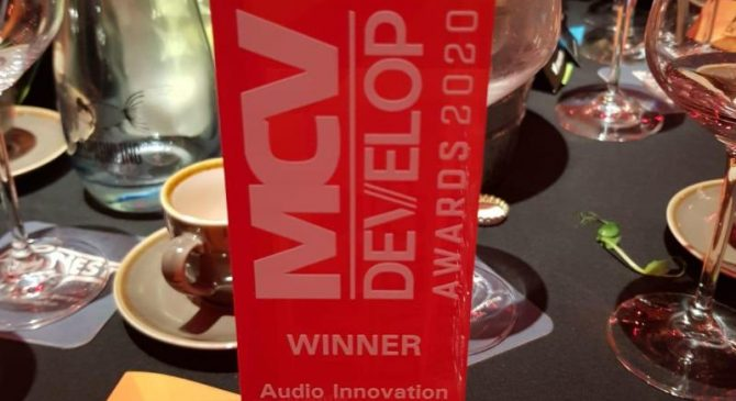 "Three Kingdoms wins ""Audio Innovation of the Year"" Develop Award 2020"